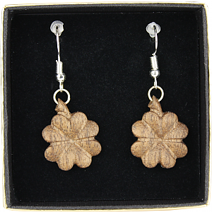 3811 - Earrings four clover hanging (with box)