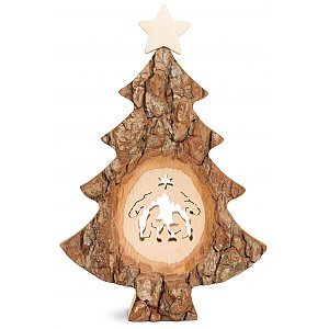 WA4455-1 - Christmas tree with sawn motif: nativity