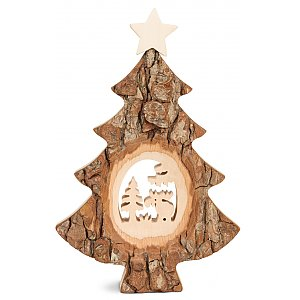 WA4455-2 - Christmas tree with sawn motif: