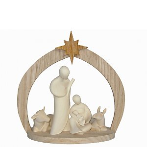 6804 - Lineart Nativity + ox + donkey + stable small nat.