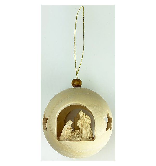 3672 - Christmastree ball holy Family stand. (with light)
