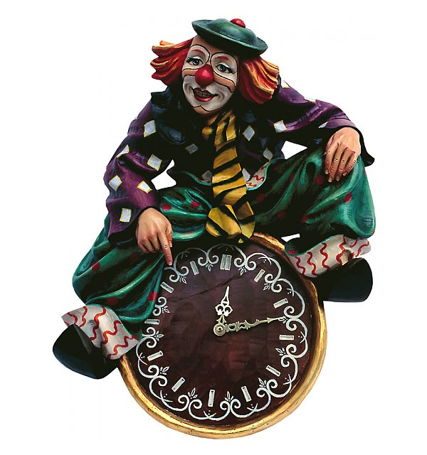 4300 - Clown on clock