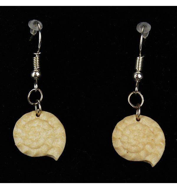3814 - Earrings fossil hanging AHORNOEL