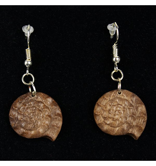 3814 - Earrings fossil hanging NUSSOEL